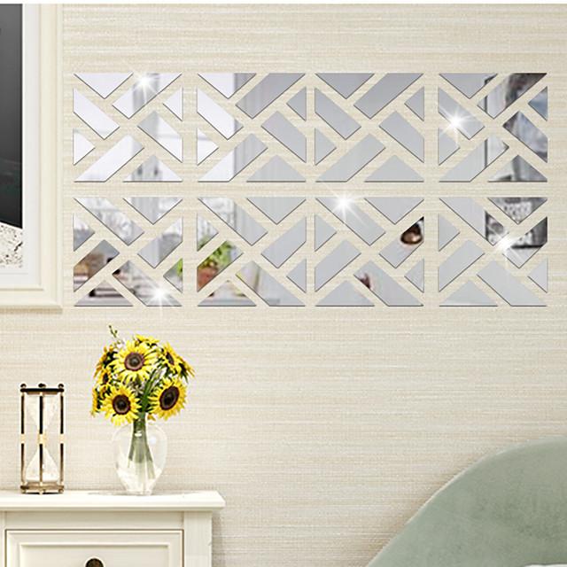 geometrische veelhoek patchwork vierkanten muurstickers spiegel muurstickers decoratieve muurstickers, acryl woondecoratie muursticker wanddecoratie 1 st