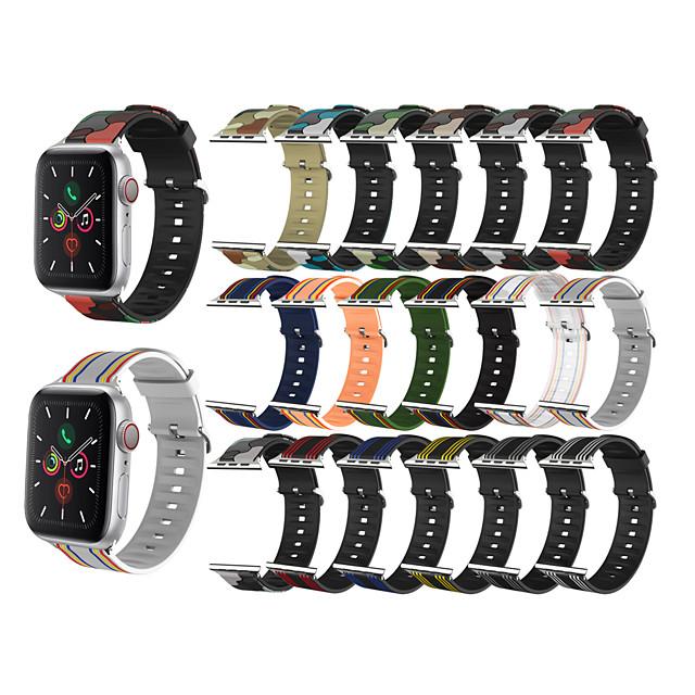 Ver Banda para Apple Watch Series 6 / SE / 5/4 44 mm / Apple Watch Series 6 / SE / 5/4 40 mm / Apple Watch Series 3/2/1 38 mm Apple Correa Deportiva / Hebilla Clásica Silicona Correa de Muñeca
