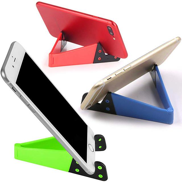 1pcsユニバーサルデスクトップスタンドカラフルなポータブル折りたたみ式vモデル携帯電話マウントホルダースタンドクレードル携帯電話用
