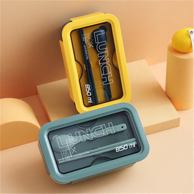 Les employés de bureau et les étudiants de 850 ml peuvent micro-ondes la boîte à bento de style japonais divisée en compartiments avec des boîtes à lunch