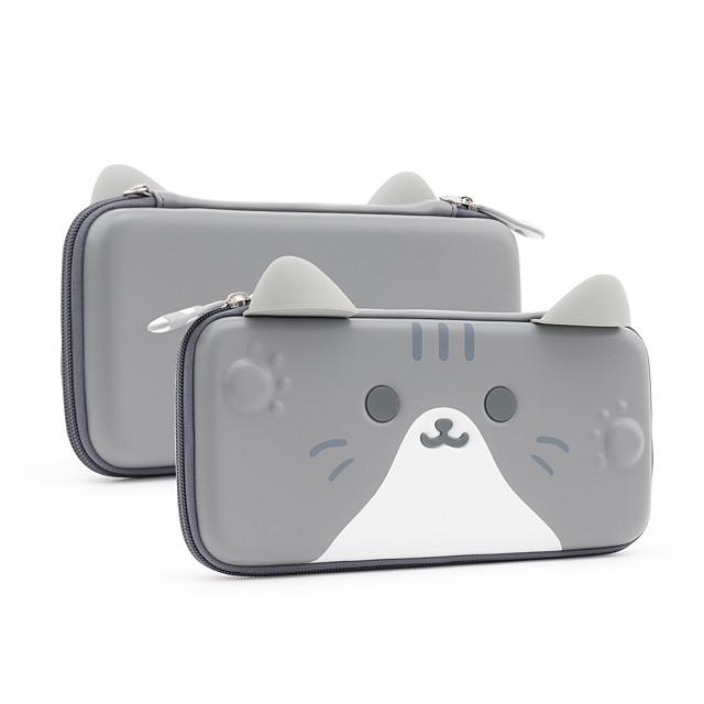 Bæretaske til Nintendo Switch Bærbar Beskyttelse Med spilkortspor Kat PU Læder EVA Til Damer og Herrer Afslappet Udendørs Indendørs Dagligdags Brug Bærbar