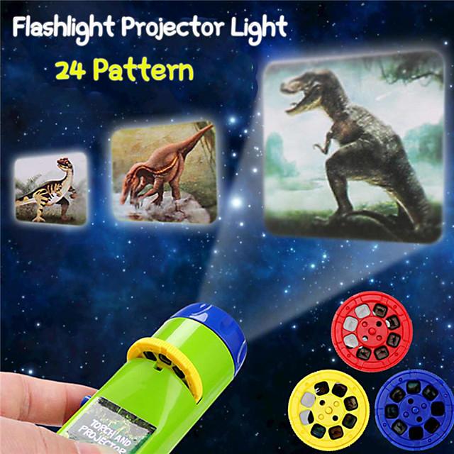 24 modèles projection lampe de poche enfants projecteur lumière mignon dessin animé jouet nuit photo photo lumière coucher apprentissage amusant jouets