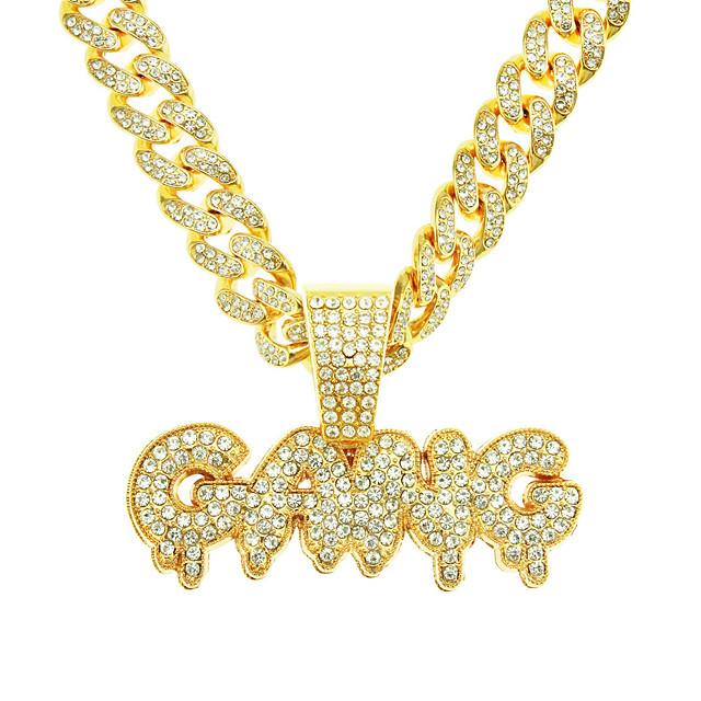 Herr Halsband Kubansk länk Vänner Europeisk Legering Guld Silver 50 cm Halsband Smycken 1st Till Festival