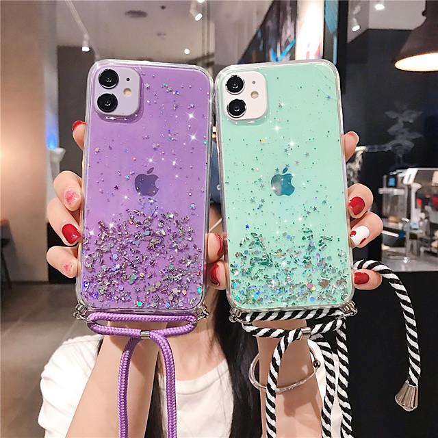 telefono Custodia Per Apple Per retro iPhone 12 Pro Max 11 SE 2020 X XR XS Max 8 7 Glitterato Cielo Glitterato TPU
