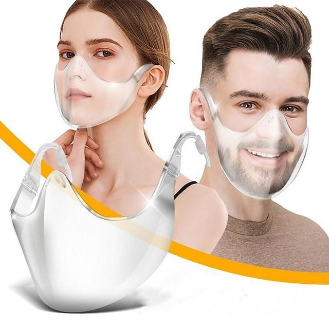 visiera nuova maschera di isolamento protettivo in plastica anti-caduta anti-epidemia anti-appannamento testa maschera trasparente