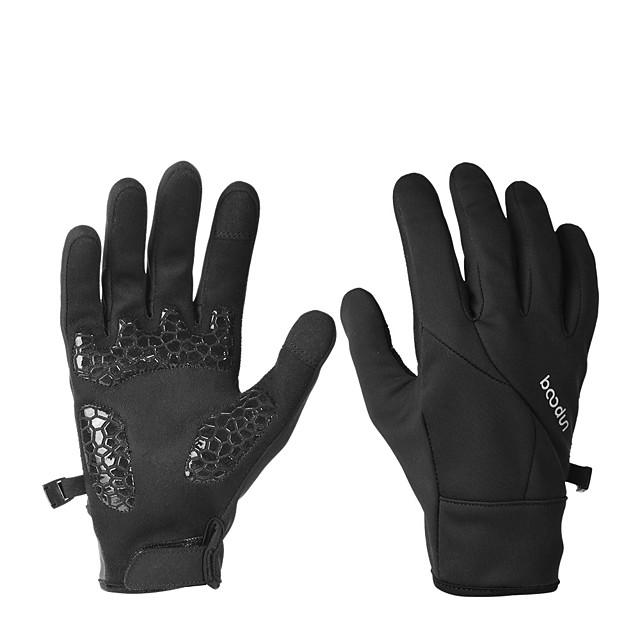 Winter Fietshandschoenen Touch-handschoenen Winddicht Ademend Houd Warm Draagbaar Lange Vinger Activiteit/Sport Handschoenen Zwart Roze Groen voor Volwassenen Fietsen / Fietsen Activiteit & Sport