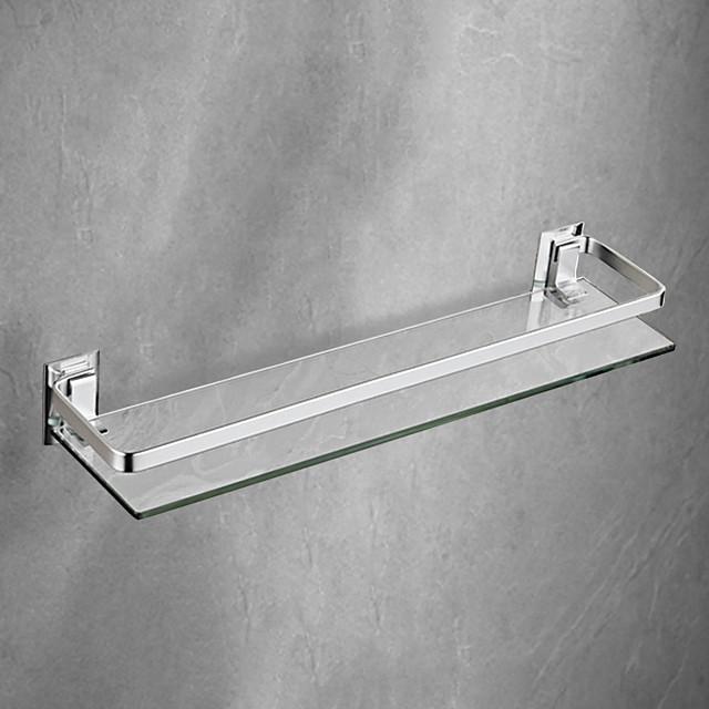 رف الحمام جدار جبل تصميم / النظارات الحديثة باردة / الفولاذ المقاوم للصدأ مجموعة 1 طول 44 سم