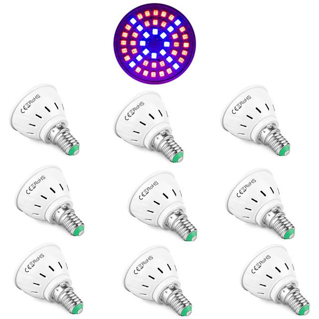 10 pcs LED Verlichting 48LED Phyto Lampe Plante Lumière E27 LED Cultiver La Lumière Fitolamp E14 LED Lampe Pour Les Plantes