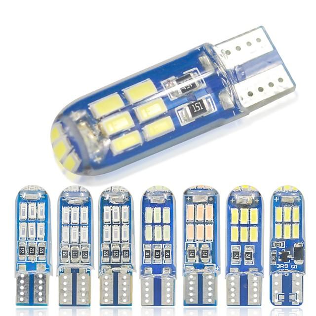 10 pcs W5W T10 LED T10 LED LED 194168 W5W Gel De Silice 15smd LED Ampoule De Parking Auto Cale Dégagement Lampe Canbus