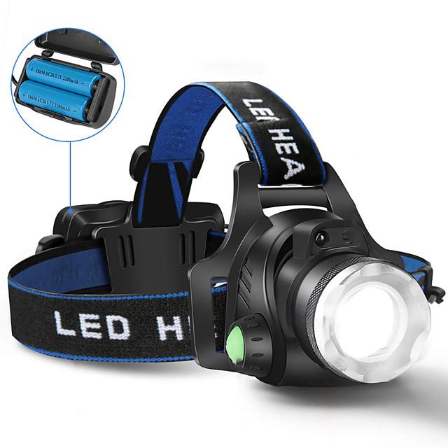 헤드램프 자전거 헤드 라이트 5000 lm LED LED 이미 터 1 조명 모드 앵글헤드 슈퍼 라이트 캠핑 / 등산 / 동굴탐험 사이클링 사냥 영국 AU EU 미국 / US플러그 / EU 플러그 / UK 플러그 / AU 플러그