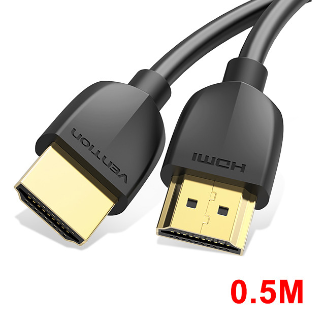 vention hdmi cable slim hdmi to hdmi 2.0 hdr 4k @ 60hz for splitter extender 1080p cable for ps4 hdtv projector 0.5m cable hdmi