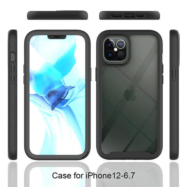 Kılıf Na Jabłko iPhone 12 Mini / iPhone 12 Pro Max / iPhone 11 Pro Max Odporny na wstrząsy / Półprzezroczyste Osłona tylna Wzór geometryczny / Zbroja TPU / PC