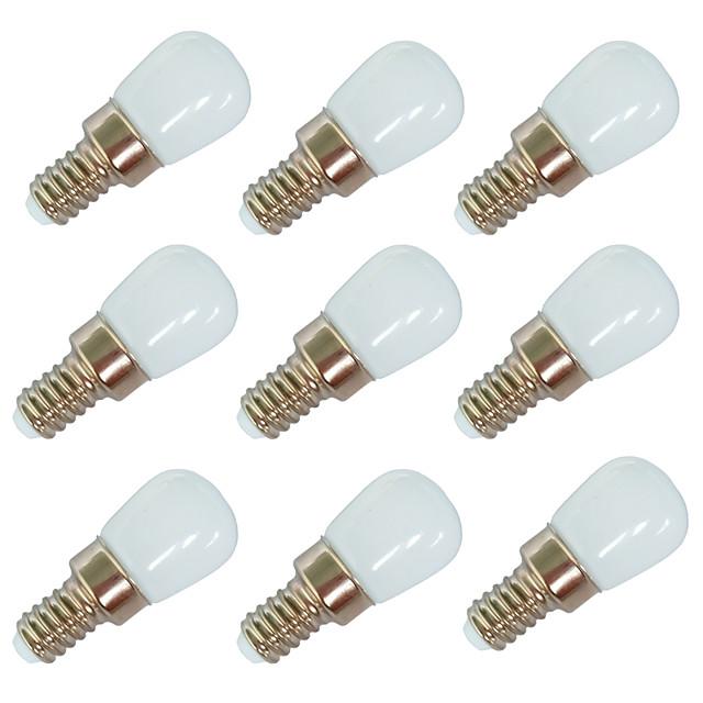 9pcs 2 W Ampoules Globe LED 100 Lm E14 E12 T22 6 Perles LED SMD 2835 Blanc Chaud Blanc 220-240 V