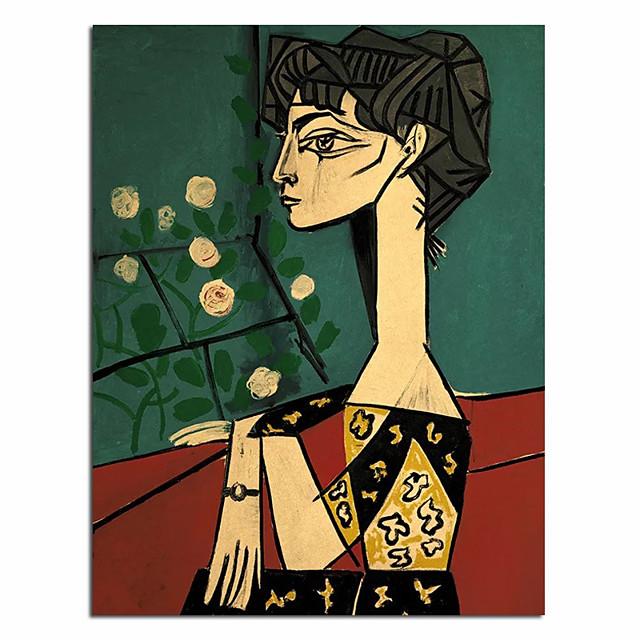 100% peint à la main peinture à l'huile moderne visage abstrait picasso mur art photos mode nordique style salon toile peinture personnalisé