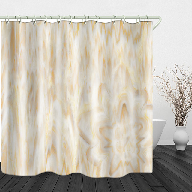 Marmorblumen Digitaldruck Duschvorhang Duschvorhänge Haken modernes Polyester neues Design