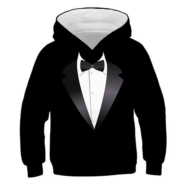 Kinderen Jongens Hoodie en sweatshirt Lange mouw Grafisch 3D Opdruk Kinderen Tops Actief Street chic Zwart