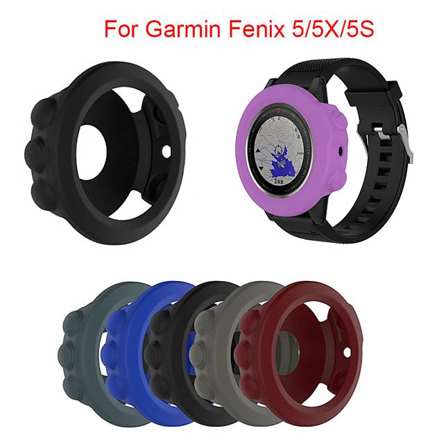 ซิลิโคนอ่อนป้องกันกรณีสำหรับ garmin fenix 5 5 วินาที 5x สร้อยข้อมือนาฬิกาซิลิโคนป้องกันเชลล์สำหรับ garmin fenix 5x5 วินาที 5 กรณี