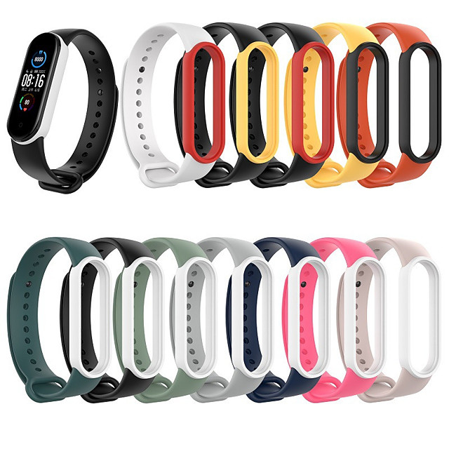 Watch Band for Xiaomi Band 5 Xiaomi Sport Band Silicone Wrist Strap