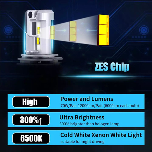 otolampara paire de modèle d'éclairage de phare d'usine de voiture oem faisceau 100w phare led h7 h8 9005 super lumineux ip68 étanche dissipation thermique 100% aluminium phare led h4 couleur blanche