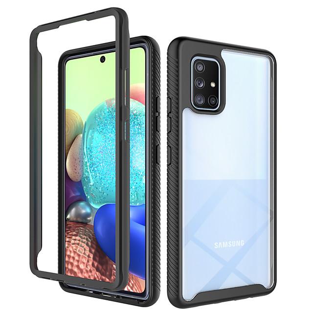 Кейс для Назначение SSamsung Galaxy Galaxy A71 5G / Galaxy A51 5G / Galaxy A21s Защита от удара / Полупрозрачный Кейс на заднюю панель Геометрический рисунок / броня ТПУ / ПК