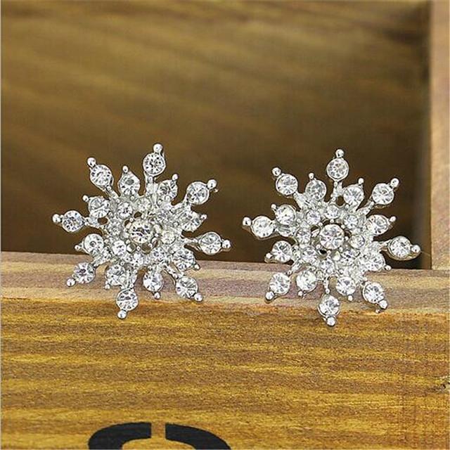 Pentru femei Cercei Stud Petală Stilat Diamante Artificiale cercei Bijuterii Auriu / Argintiu Pentru Petrecere / Seară Cadou Festival 1 Pair