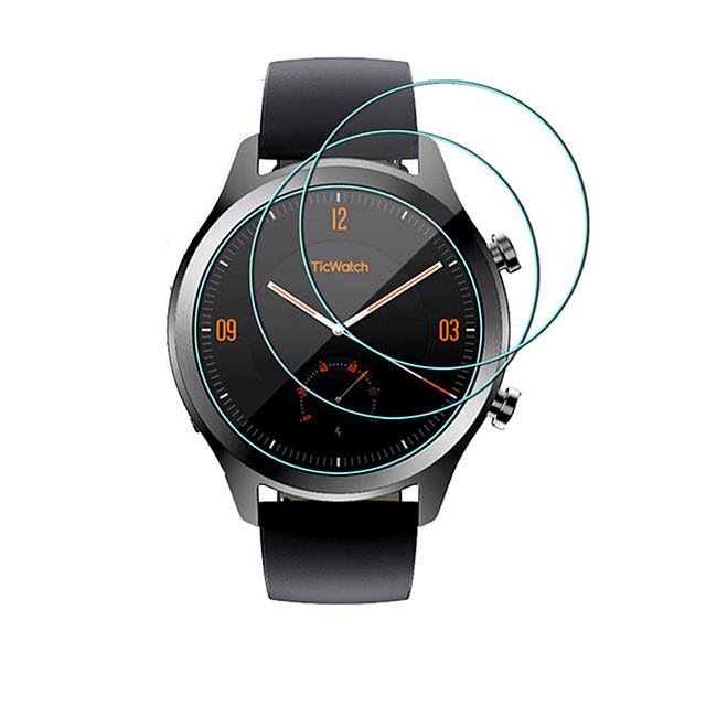 3 упаковки закаленное стекло для ticwatch 1/2 pro / s / c2 9h 0,3 мм 2,5d прозрачное закаленное стекло протектор экрана против царапин