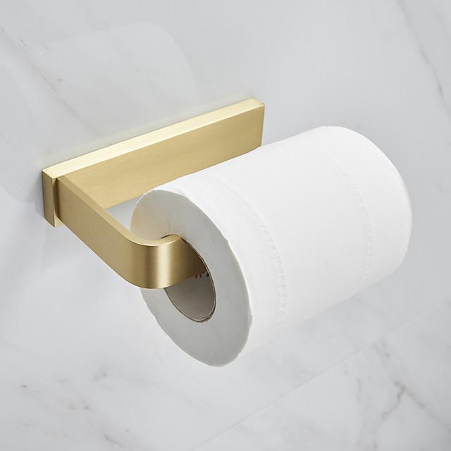 porte-papier toilette créatif moderne en métal rouleau porte-papier salle de bain mural doré 1 pc