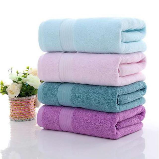 litb basic salle de bain 100% pur coton serviette de bain douce couleur unie confortable absorbant quotidien serviettes de bain à la maison 1 pcs 70 * 140 cm