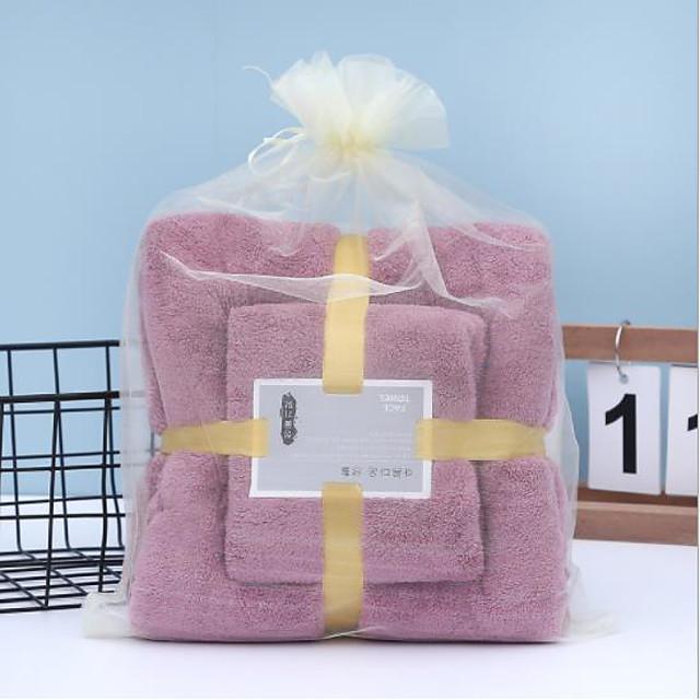 litb basic salle de bain serviette de bain absorbante douce et serviette à main confortable en molleton de corail serviettes de bain quotidiennes de couleur unie pour la maison 2 pièces dans 1 ensemble 70 * 140 & 35 * 75cm