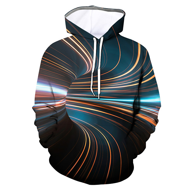 Homme Sweat-shirt à capuche Graphique Quotidien Sortie Impression 3D Simple Pulls Capuche Pulls molletonnés 1 2 3