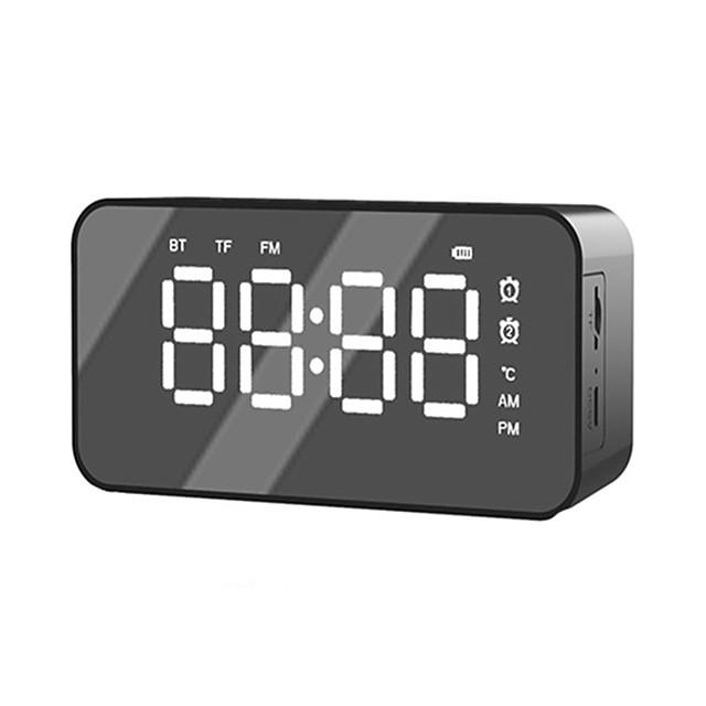 Portable sans fil bluetooth 5.0 haut-parleur stéréo musique boîte de son réveil pour tf aux card lecteur de musique