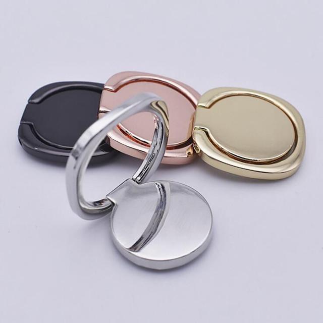 Luksus metall mobiltelefon stikkontakt holder Universal 360 graders rotasjon fingerring holder holder tilbehør