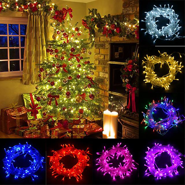 20m lumières LED décoration de la maison lumières de noël LED guirlandes extérieures 200 LED pour noël anniversaire chambre décoration de fête de mariage avec 8 modes de contrôle