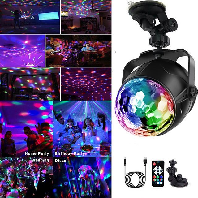 5V USB Disco Light Ball Éclairage De Voiture À La Maison De Mariage Fête En Plein Air DJ Stage Lumière Projecteur avec Base Réglable À Distance