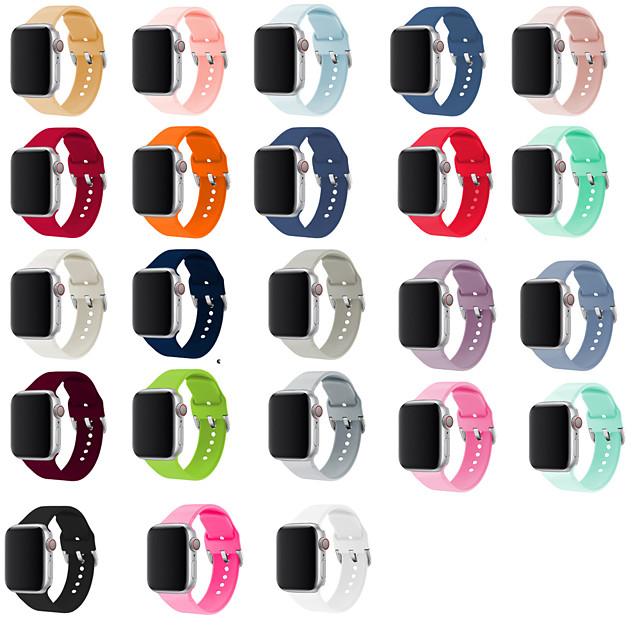 Watch Band varten Apple Watch Series 6 / SE / 5/4 44mm / Apple Watch Series 6 / SE / 5/4 40 mm / Apple Watch -sarja 3/2/1 38 mm Apple Perinteinen solki Silikoni Rannehihna