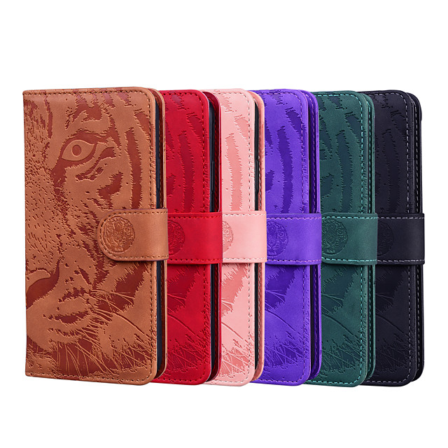 Case For Apple iPhone 12 / iPhone 12 Mini / iPhone 12 Pro Max Wallet / Shockproof / Flip Full Body Cases Animal PU Leather