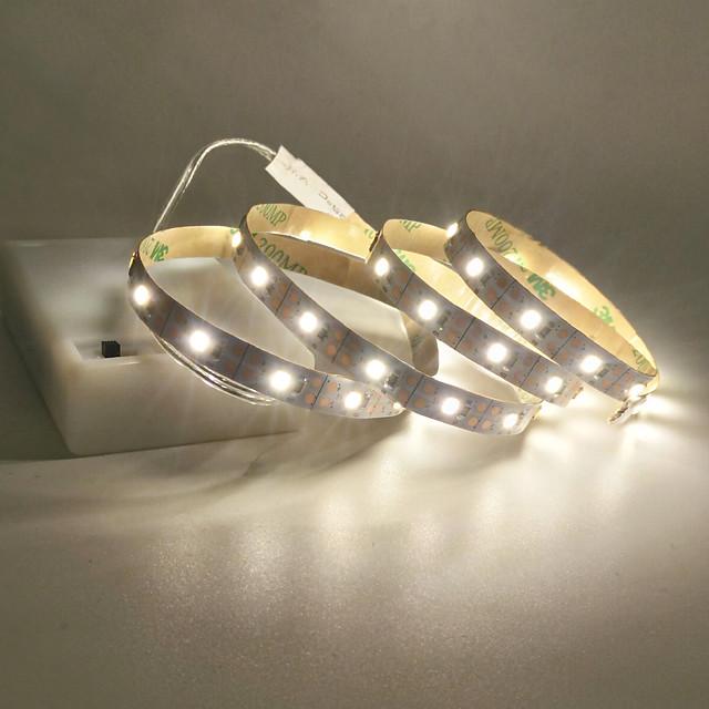 strisce luminose a led interfaccia usb o batteria aa alimentatore flessibile 2835 smd per metro 60 led 8mm bianco caldo bianco freddo 5v striscia luminosa a led