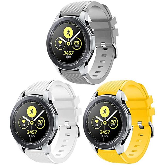 Watch kapela pro Samsung Galaxy Watch 46 / Samsung Gear S3 / Galaxy Watch 3 45mm Samsung Galaxy Sportovní značka Silikon Poutko na zápěstí