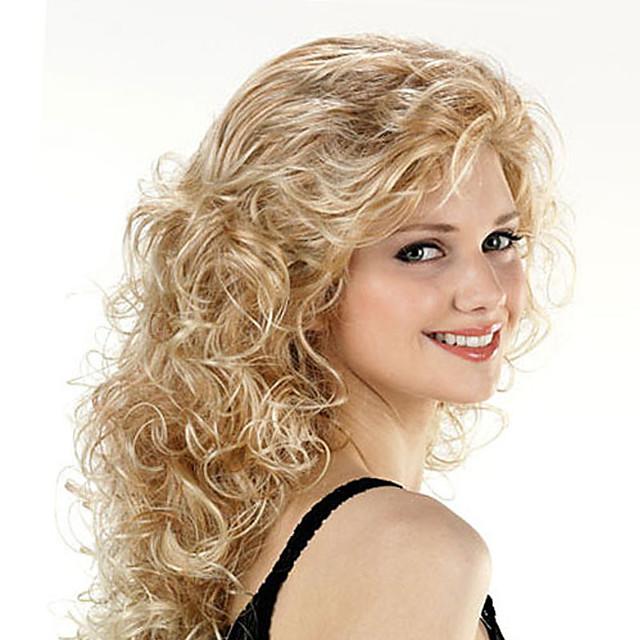 perruque synthétique bouclés perruque asymétrique longue argent gris brun cheveux synthétiques design à la mode des femmes exquis romantique brun gris