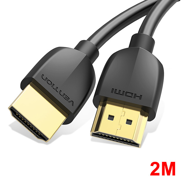 vention hdmi cable slim hdmi to hdmi 2.0 hdr 4k @ 60hz for splitter extender 1080p cable for ps4 hdtv proiettore 2m cable hdmi