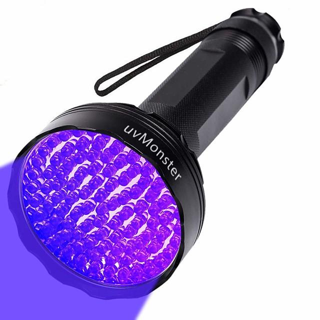 Lanterna UV LED 100 Emissores Ajustável A Prova de Ventos Fácil de Transportar Durável Campismo / Escursão / Espeleologismo Uso Diário Pesca Roxo Cor da Lâmpada Preto