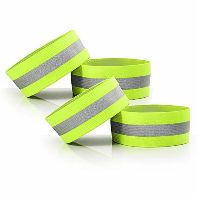 verstelbare elastische lichtgewicht reflecterende polsbandjes met hoge zichtbaarheid, arm pols enkel beenbanden, fietsbroek manchetbanden, voor hardlopen, wandelen, joggen, fietsen, motorrijden