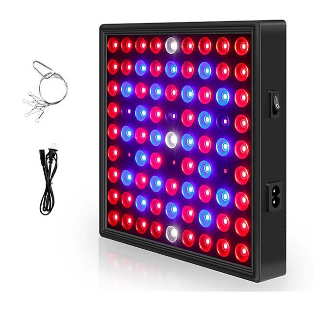 1pc 81LED 169LED élèvent des lumières à spectre complet croissant de lampe à LED d'éclairage de plante lustre pour plantes d'intérieur hydroponiques à effet de serre