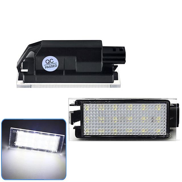 2 pièces 2 W 12 V 6500 K voiture LED numéro de plaque d'immatriculation lumière pour Renault Megane 2 Clio Laguna 2 Megane 3 Twingo Master Vel Satis