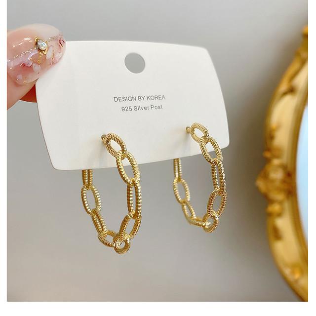 Women's Stud Earrings Drop Earrings Hoop Earrings Alphabet Shape Simple Baroque European Trendy Fashion Earrings Jewelry Gold For Street Gift Vacation Birthday Promise 1 Pair