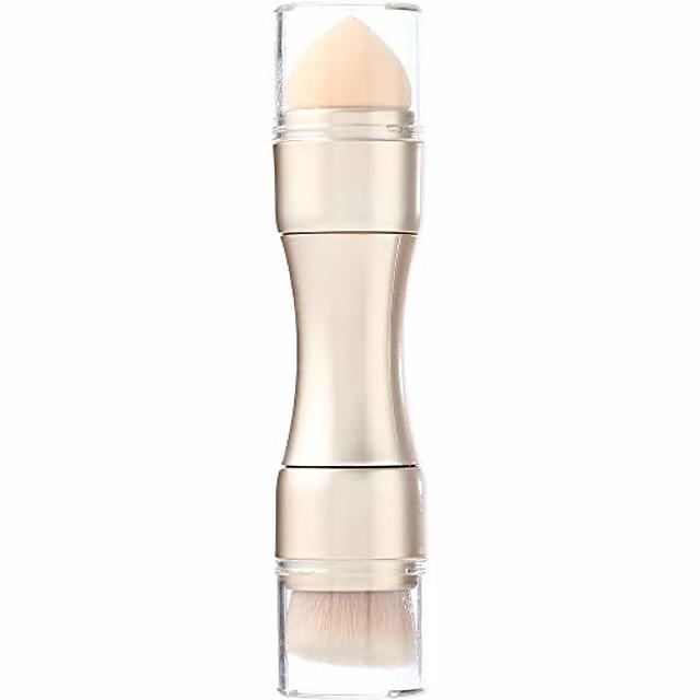 4 in 1 make-up kwast set cosmetische borstel lip blending poeder blush oogschaduw make-up kwasten kit met deksels voor reizen (champagne)
