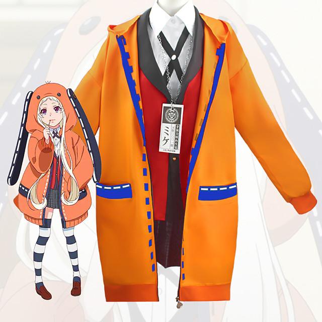 Εμπνευσμένη από Dangan Ronpa Kakegurui Yomoduki Runa Anime Στολές Ηρώων Ιαπωνικά Κοστούμια Cosplay Επίστρωση Μπλούζα Κορυφή Για Γυναικεία / Φούστα / Κάλτσες / Κολιέ / Παπιγιόν / Φούστα