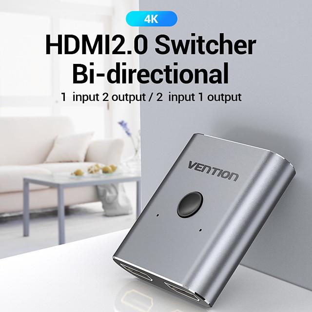 4k hdmi switch 2 Ports bidirektional 1x2 / 2x1 hdmi switcher splitter unterstützt ultra hd 4k 1080p 3d hdr hdcp für ps4 hdtv