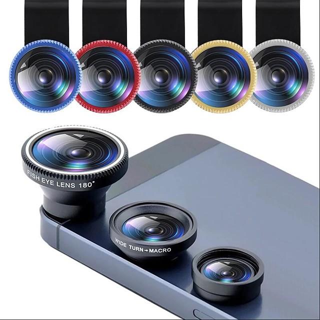 Objectif de téléphone fisheye 0.67x objectif zoom grand angle fish eye 10x objectifs macro kits de caméra avec objectif à clip sur le téléphone pour smartphone