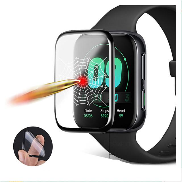 3D Kavisli Kenar Yumuşak Şeffaf Koruyucu Film Koruma için Oppo İzle 41mm 46mm Smartwatch Tam Kapak Ekran Koruyucu